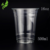 16oz disposable recycle blister popular plastic process type juice cup for wholesale