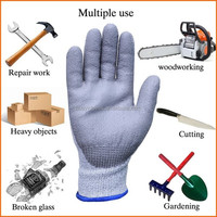 High Performance Level 5 Protection PU Coated Cut Resistant Gloves/Cut Protection Glove for Construction Industry