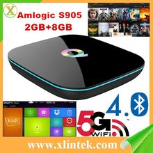 Android tv box Q BOX Android 5.1 KODI 16.0 Amlogic S905 2G/8G BT4.0 Q Box install google play store smart tv media pk pro M8S