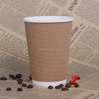 Solid Kraft Disposable Paper Cup For Hot Drinkings Tea And Coffee