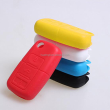 candy color silicone car remote key cover silicone key cover for vw
