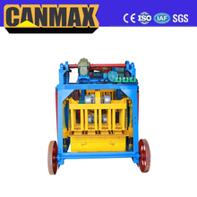 Building Small Manual Mobile Concrete Hollow Block Making Machine