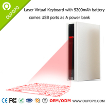 Bluetooth Virtual Laser Projection Keyboard with 5200mAh Power Bank