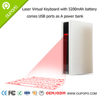 EDOX Bluetooth Laser virtual keyboard Projection Keyboard with 5200mAh Power Bank