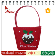 XM19-20A 2016 new style Christmas felt candy gift basket Christmas gift decoration