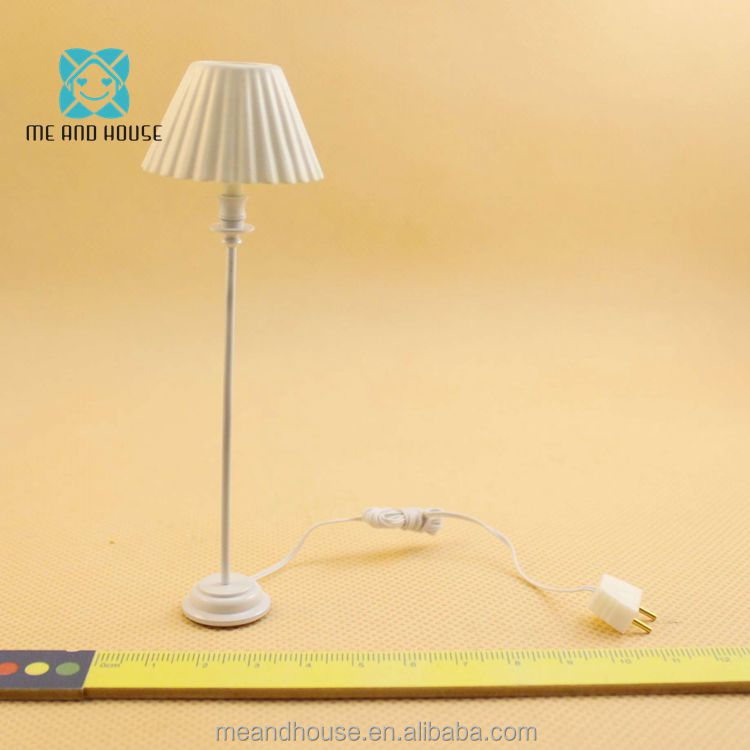 1:12 Doll House standard reading floor lamp 12 volt working light