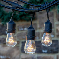 Bulbrite STRING15/E26-S14KT Outdoor String Light w/Incandescent 11W S14 Bulbs, 48-Feet, 15 Lights string light