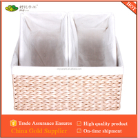 straw woven storage basket,straw/rush woven set of 3 handmade home using basket
