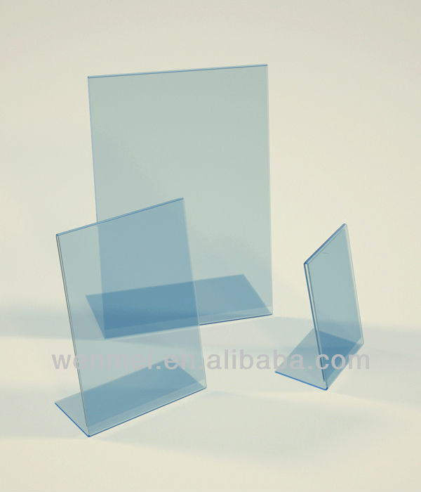 (AH-001)A4 acrylic sign holder, Acrylic POS Display,Menu Holder