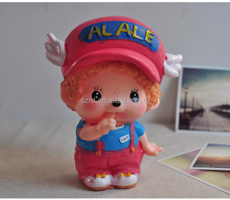 high quality plastic figure/China cheap cartoon coin bank/wholesale custom money box
