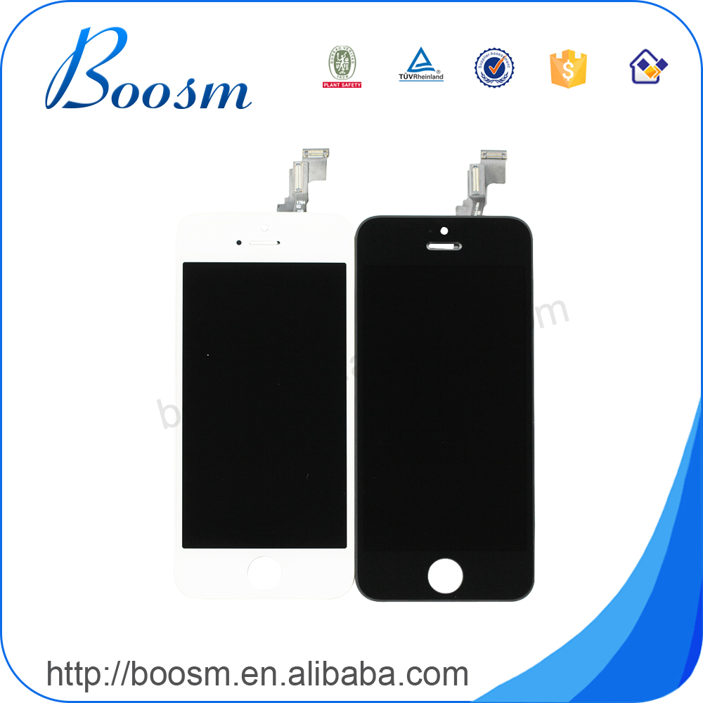 Factory Sale digitizer for iphone 5 unlocked logic board 16gb 32gb,replacement screen for iphone 5 gold conversion kit