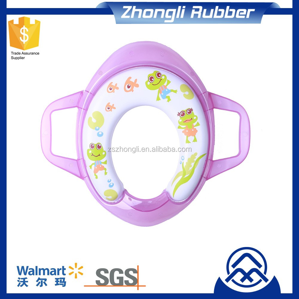 Anti Bacterial Sanitary Toilet Seat with Handles