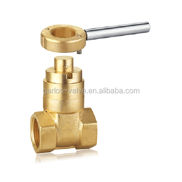 GS1070 Double Threaded Brass Magnetic Locking Gate Valve