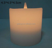 promotional white LED base real wax flameless candle home decorations
