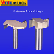 Weitol 1/4 inch woodworking tools T slotting router bit wood milling cutter