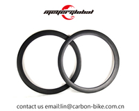 OEM decal logo 700C 50mm carbon road clincher tubular rims 16 / 21 holes 23mm Width UD matte finished