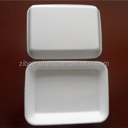 White PS plastic foam food tray