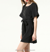 2015 European Style New Products Latest Dress Desgins Plain Dyed Chiffon Fashion Casual Dresses For Women