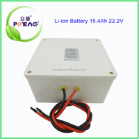 Rechargeable 18650 24v 15.4ah lithium battery for electric car