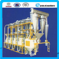 20-200 ton per day complete set wheat flour milling equipment for low gluten wheat flour