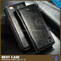 China supplier hot sale flip cover for iphone 6 wallet stand case
