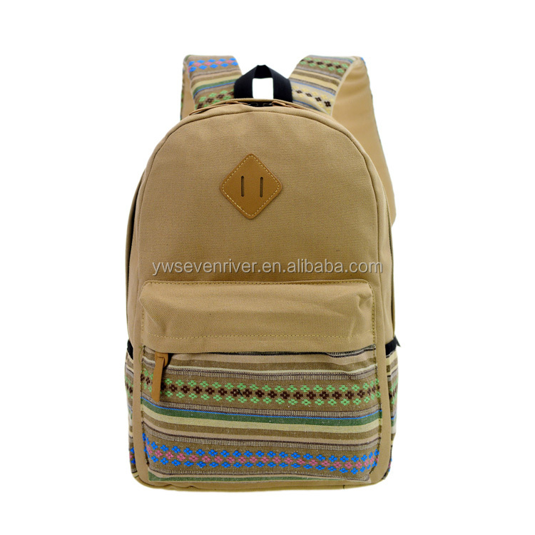 New Design High Middle Class Student Teens Canvas School Bag