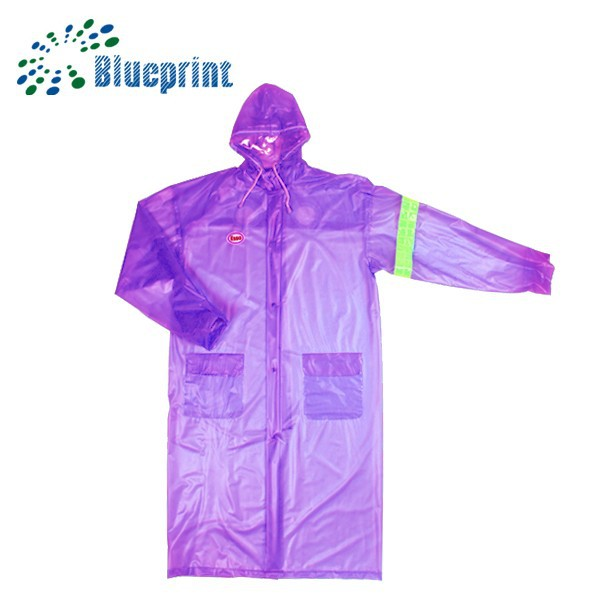 promotion waterproof long purple rain poncho