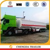 Manufacturer supply tri-axle diesel fuel tanker trailer sale with tubeless tires