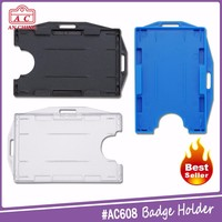 Colorful Customized Pvc ID Card Badge Holder Accessories