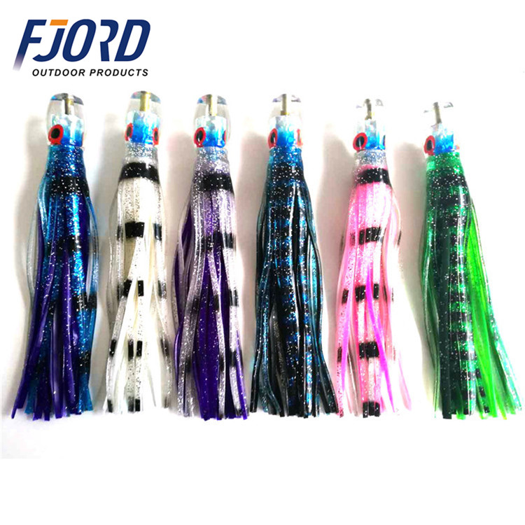 FJORD Sea Fishing Big Game Trolling Fishing Lure Double Soft Plastic Octopus Skirt Tuna Marlin Big Lure Resin Jet head lure