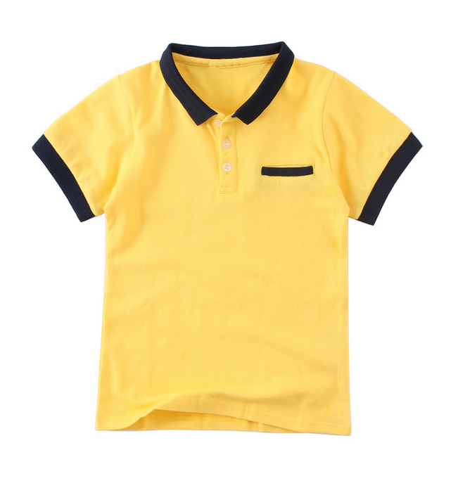 Wholesale Kids Fancy Polo Neck tshirt Clothing With Pocket
