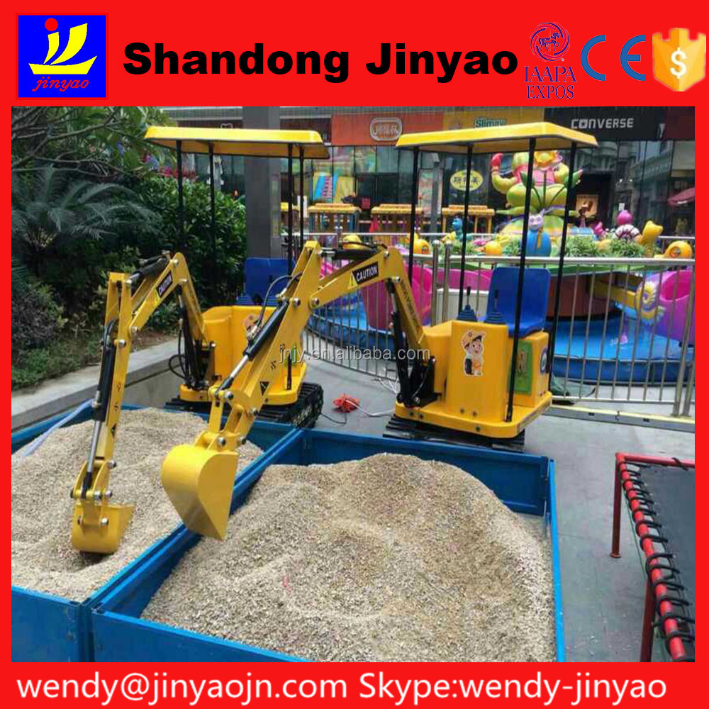 Hot sale new products Small kids toy excavator coin operated <strong>game</strong>, safety electric mini toy excavator for kids