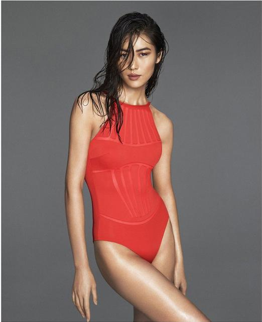 European style female swimsuit cover the belly was thin Conservative gather small chest one piece Swimwear female swimsuit