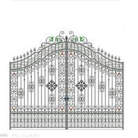 R0136 Modern Cheap Garden decoration Wrought Iron Gates designs