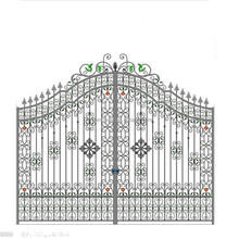 R0136 Modern Cheap Garden decoration Wrought Iron Gates designs