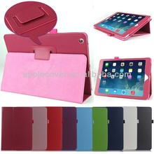 High Quality Two Folding Leather Stand Case for iPad Air , for Ipad Air Cover Case