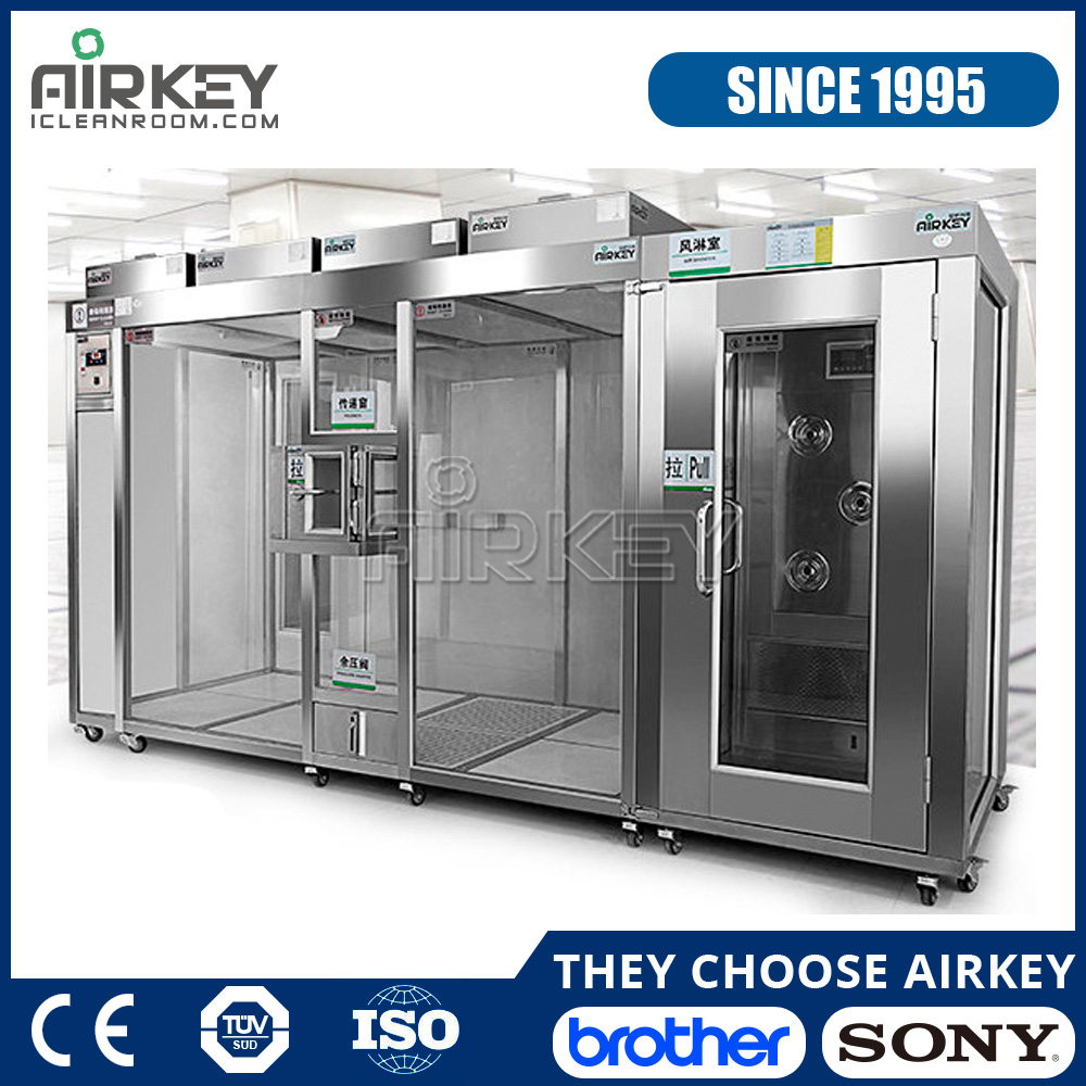Dust Free ISO Standard Mobile Clean Room with FFUs and Air Shower