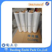 Clear self-adhesive pe plastic transparent cling stretch film with pallet