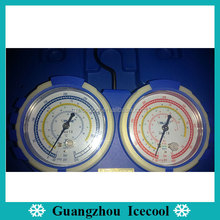High Quality Value VMG-2-R410A-B Testing Manifold Gauge for R410A With hand-carry Plastic Case