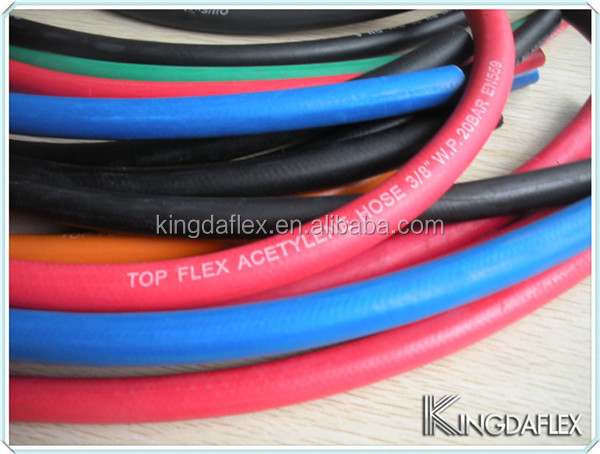 high quality flexible 300 psi epdm tube gas welding hose factory