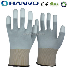 HANVO White Electrial PU Top Fit Work Glove