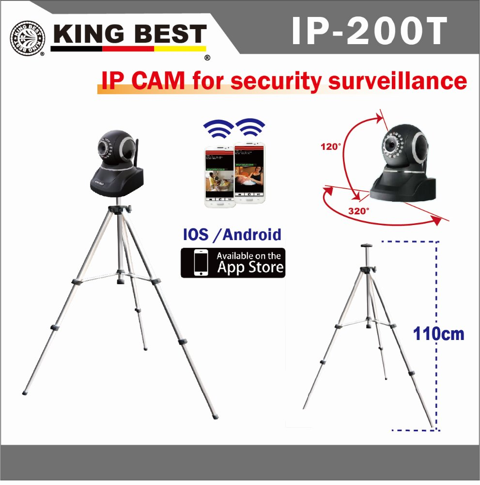 KINGBEST 2016 Multifunction 720P High Definition cameras security systems wireless ptz camera p2p wifi ip network camera
