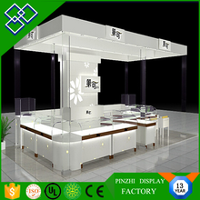 Customized Tempered Glass MDF Wood Jewelry Display Shelf for Showroom