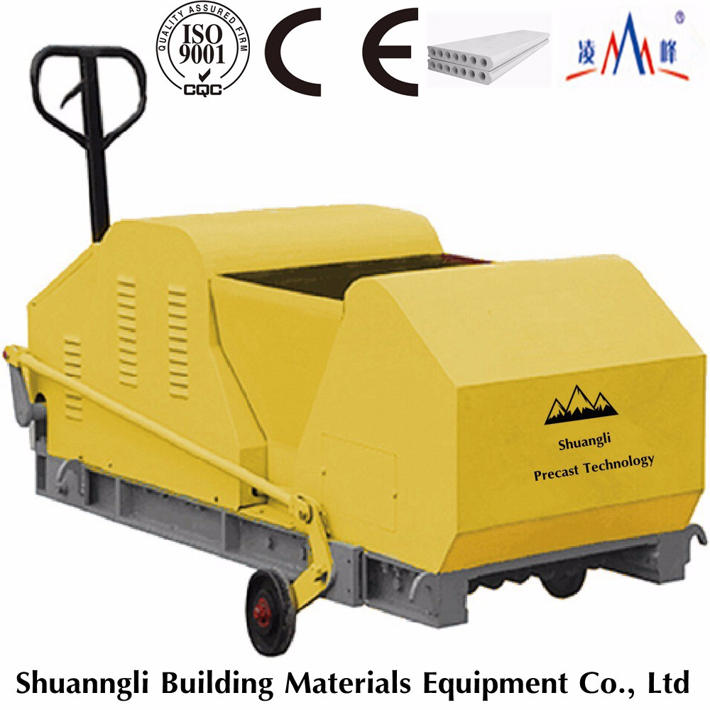 precast concrete wall panel extruder, precast concrete hollow core lightweight wall panel making machine