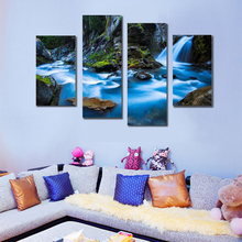 4 pcs Modern Landscape Painting Canvas Art HD Printed Wall <strong>Picture</strong> For halloween Decoration Bed Room <strong>picture</strong> Unframed