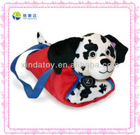 Funny pink plush dog bag