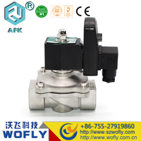 2 inch diaphragm type 24 volt Gas solenoid valve with timer