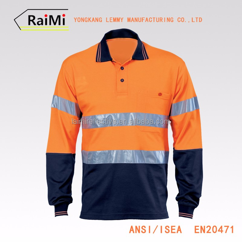Unique design safety 100 polyester polo shirts wholesale