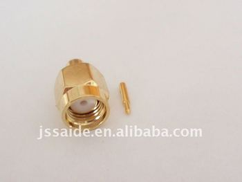 SMA male connector for RG402 cable