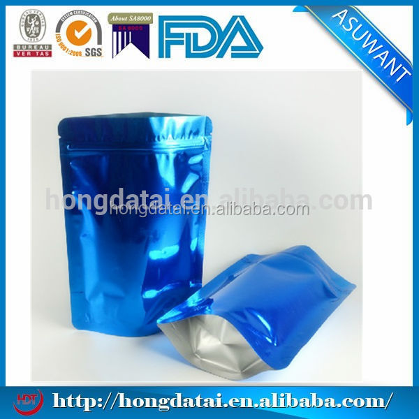 Chrome shiny plastic bag for packaging oily cookies